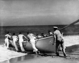 A Brown OBX Lifesaving station Launch
