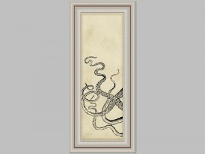Antiqued Black Octopus 1 18x38 Price Code F