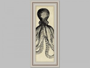 Antiqued Black Octopus 2 18x38 Price Code F