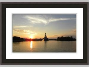 Battleship Sunset 26x30 Price Code D