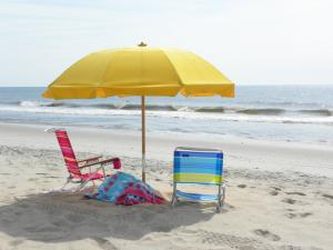 Carolina Beach Watercolor umbrellas and Chairs