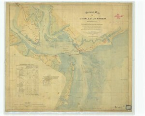 Charleston Civil War defenses 1858 custom sizeable