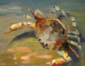 Crab with Red 30x40 or 24x30