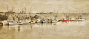 Darien Shrimp Fleet 18x36