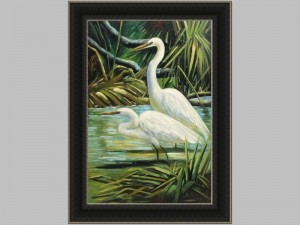 Egret in Marsh 2
