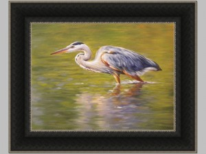 Fishing Egret Canvas 28x36