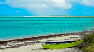 Lime Green Boat at Anegada  K.Pope