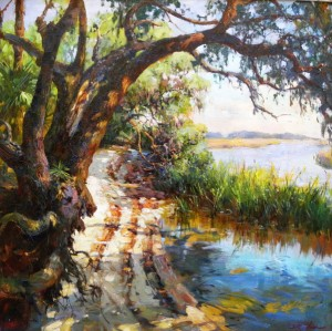 Lowcountry Path canvas 38x44