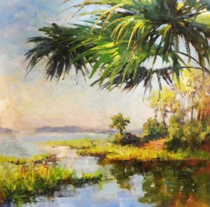 Lowcountry Salt Marsh canvas 38x44