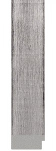 "M 594-43 3.875"" antiqued silver distressed"
