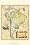 Map of South America 28x36