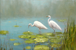 Morning Mist teal Horizontal 24x36 or 30x44