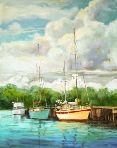 SAILBOAT AT DOCK  TEALE.POPE