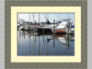 SOUTHPORT MARINA MATTED ,FRAMED K.POPE
