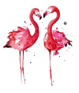 N335Dpink flamingos ,Nagel