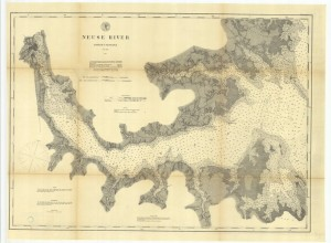 Neuse River map 1900 custom sizeable