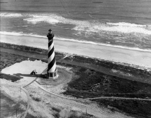 Outer Banks History Collection 21 Hatteras light before the move