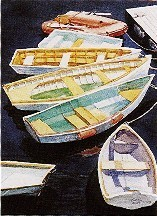 elaine hahn dinghies rafted up