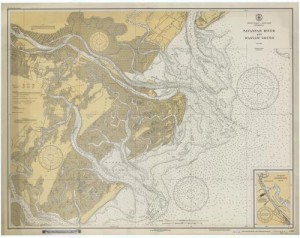 Savannah River and Wassaw Sound 1933 custom sizes available