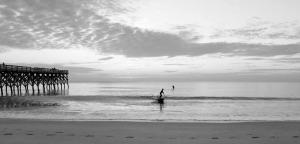 Wrightsville Paddleboarders B&W