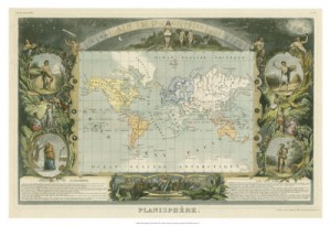 owp old world map decorative border