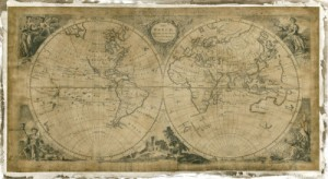 world map 1700s custom sizeable